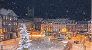Centre ville sous la neige